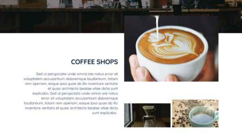 Websites for coffee shops and tea rooms