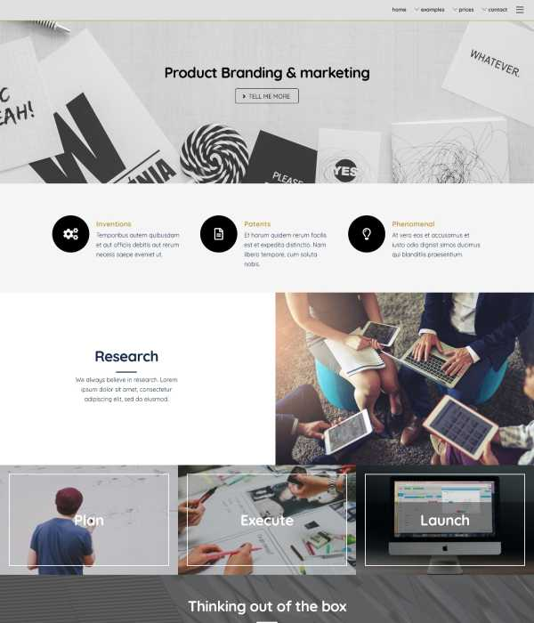 Marketing Home Page